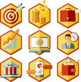 Ajuste ícones do negócio ilustração do vetor