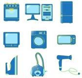 Ajuste ícones dos aparelhos electrodomésticos Imagens de Stock Royalty Free
