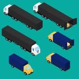 Ajuste ícones dos caminhões ilustração do vetor
