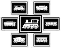 Ajuste ícones para o transporte railway Foto de Stock Royalty Free
