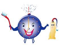Ajuste alertas para a higiene dental ilustração do vetor