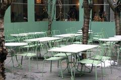Ajuste ao ar livre do restaurante Fotografia de Stock Royalty Free