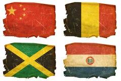 Ajuste as bandeiras # 10 velhos Fotos de Stock Royalty Free