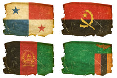 Ajuste as bandeiras # 17 velhos Imagens de Stock Royalty Free