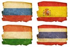 Ajuste as bandeiras # 6 velhos Foto de Stock Royalty Free