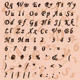 Ajuste as letras, alfabeto (fonte) em um tema retro Fotos de Stock