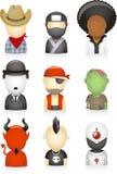 Ajuste avatars Fotografia de Stock