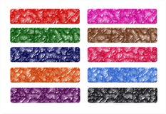 Ajuste bandeiras Web ou encabeçamento da Web, colorido, original Foto de Stock Royalty Free