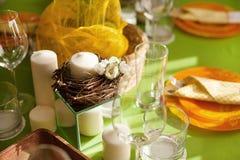Ajuste brillante de la tabla de la primavera Imagen de archivo libre de regalías