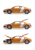 Ajuste carros Audi R8 Foto de Stock Royalty Free