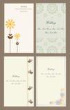 Ajuste cartões do convite do casamento Fotografia de Stock Royalty Free