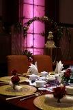 Ajuste chinês da tabela do casamento Imagem de Stock