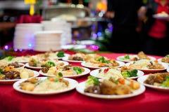 Ajuste chino de la comida fría del Año Nuevo fotos de archivo