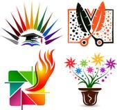 Ajuste coleções do logotipo ilustração royalty free
