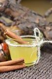 Ajuste com as varas do mel e de canela Imagens de Stock Royalty Free