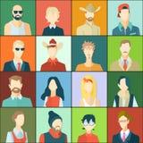 Ajuste com avatars dos povos Foto de Stock