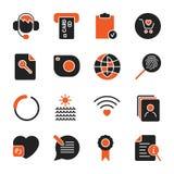Ajuste com ?cones diferentes para apps, programas, locais e outro ?cones do escrit?rio e do neg?cio ajustados ilustração do vetor