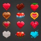 Ajuste com corações dos desenhos animados Foto de Stock Royalty Free