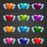 Ajuste com corações dos desenhos animados Fotos de Stock