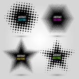 Ajuste com elementos de intervalo mínimo abstratos do projeto Foto de Stock
