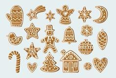 Ajuste com figuras do pão-de-espécie Foto de Stock Royalty Free
