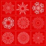 Ajuste com a imagem dos flocos de neve para o feriado Imagem de Stock