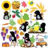 Ajuste com jardinagem da toupeira Foto de Stock Royalty Free