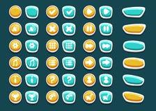 Ajuste com os botões da relação com ícones Fotografia de Stock