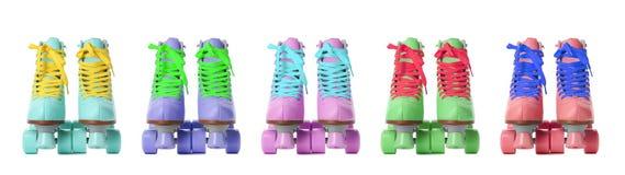 Ajuste com os patins de rolo à moda do quadrilátero foto de stock royalty free