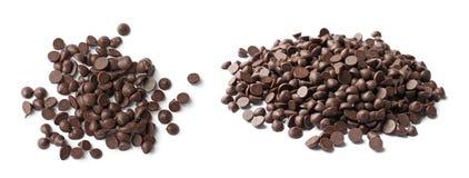 Ajuste com pedaços de chocolate deliciosos foto de stock royalty free