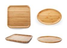Ajuste com pratos de bambu imagens de stock
