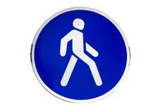 Ajuste con el ` blanco del paso de peatones del ` de la señal de tráfico de la frontera foto de archivo libre de regalías