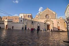 Ajuste con la basílica antigua de St Catherine de Alexandría fotos de archivo libres de regalías