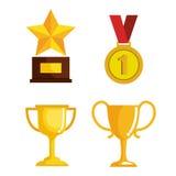 Ajuste concessões da competição dos troféus ilustração do vetor