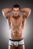 Ajuste considerável e homem muscular fotos de stock royalty free