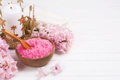 Ajuste cor-de-rosa dos termas e do bem-estar Foto de Stock Royalty Free