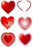 Ajuste corações Fotografia de Stock Royalty Free