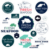 Ajuste crachás e etiquetas para a indústria do marisco Fotos de Stock