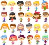 Ajuste crianças dos desenhos animados Imagens de Stock Royalty Free