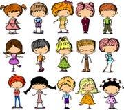 Ajuste crianças dos desenhos animados, vetor Fotos de Stock