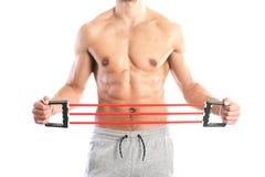 Ajuste, cuerpo masculino muscular Imágenes de archivo libres de regalías