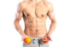 Ajuste, cuerpo masculino muscular Fotografía de archivo libre de regalías