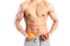 Ajuste, cuerpo masculino muscular Fotos de archivo libres de regalías