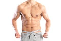 Ajuste, cuerpo masculino muscular Imagen de archivo libre de regalías