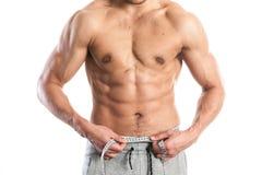 Ajuste, cuerpo masculino muscular Foto de archivo