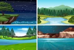 Ajuste da cena da natureza ilustração stock