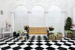 Ajuste da decoração na cerimônia de casamento Imagens de Stock Royalty Free