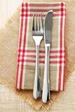 Ajuste da faca e da tabela da forquilha Foto de Stock Royalty Free