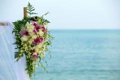 Ajuste da flor na praia Foto de Stock Royalty Free