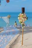 Ajuste da flor na praia Fotografia de Stock Royalty Free